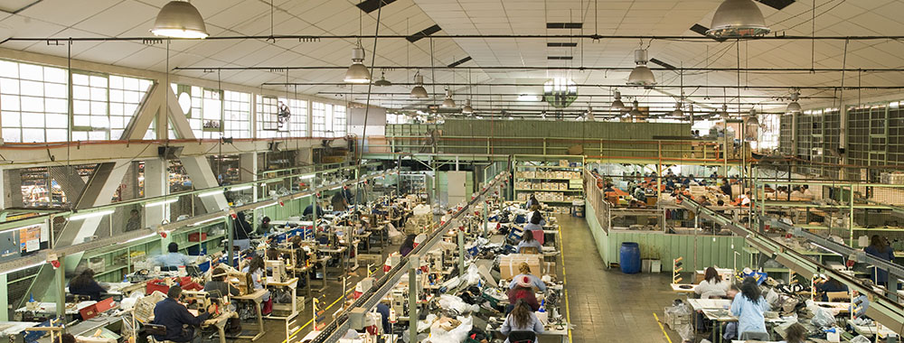 View of manufacturing floor leading up to the launch of a new product
