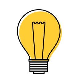Light bulb icon from patent advice page