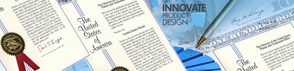 Innovate Design and US Patent Office mash up banner
