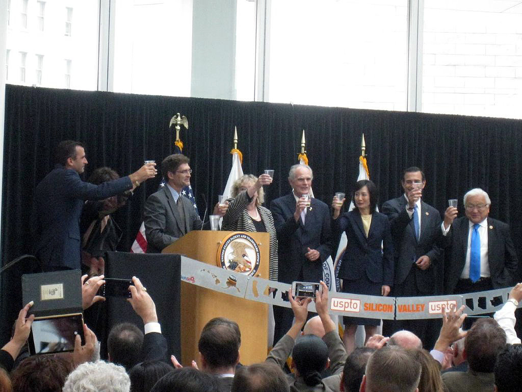 Ribbon cutting ceremony at new Silicon Valley patent office in San Jose, CA